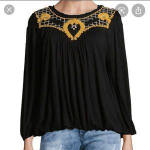 Free People Begonia Peasant blouse